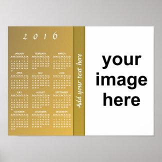 Create Your Own Custom 2016 Photo Calendar Poster