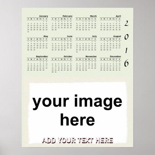Create Your Own Custom 2016 Photo Wall Calendar