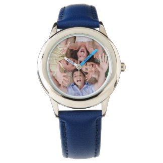 Create Your Own Custom Blue Leather Strap Watch