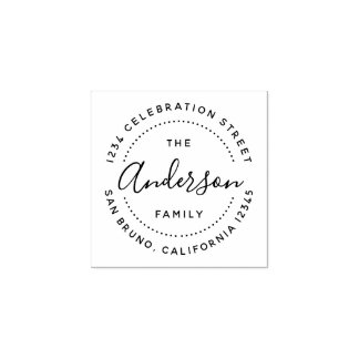 Create Your Own Custom Family Name Return Address Rubber Stamp
