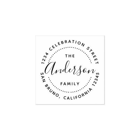Create Your Own Custom Family Name Return Address