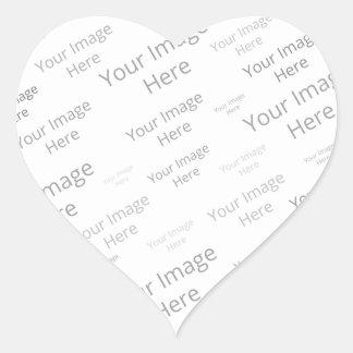 Create Your Own Custom Glossy Heart Sticker