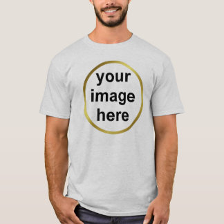 Create Your Own Custom Gold Frame Photo T-Shirt