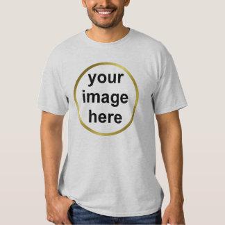Create Your Own Custom Gold Frame Photo Tshirt
