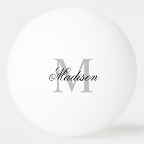 Create Your Own Custom Monogram And Name Ping Pong Ball