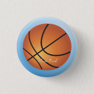 Create your Own Custom Monogram Basketball 3 Cm Round Badge