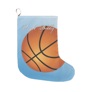 Create your Own Custom Monogram Basketball Large Christmas Stocking