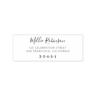 Create Your Own Custom Name Script Return Address Rubber Stamp