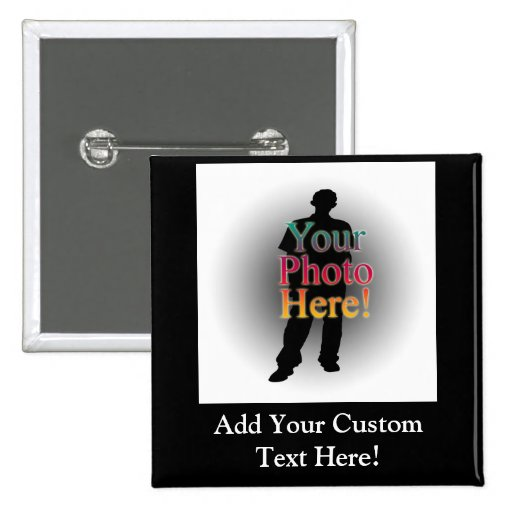 Create Your Own Custom Personalised Photo 15 Cm Square Badge