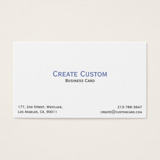 Create Your Own Custom Personalised Professional Business Card