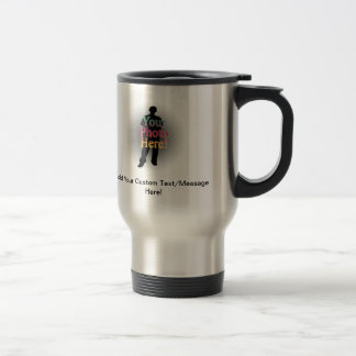 Create Your Own Custom Personalized Photo/Text Stainless Steel Travel Mug