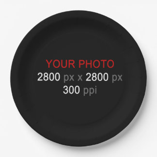 Create Your Own Custom Photo 9'' Paper Plates 9 Inch Paper Plate
