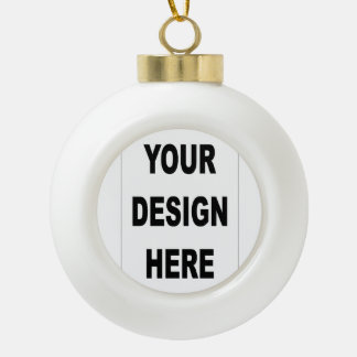 Create Your Own Custom Photo Ceramic Ball Ornament