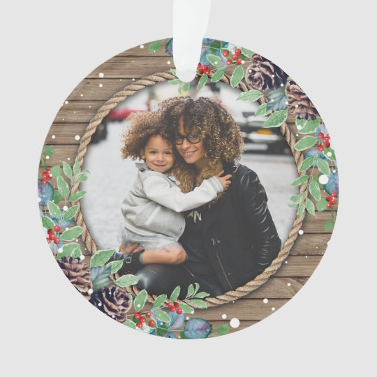 Create Your Own Custom Photo Christmas Holiday Ornament