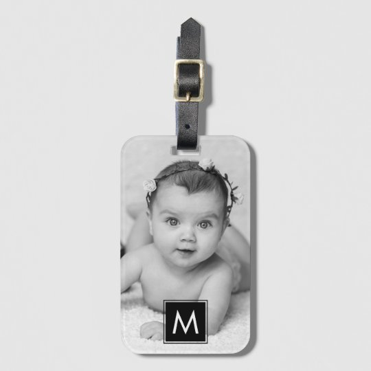 Create Your Own Custom Photo Monogram Luggage Tag