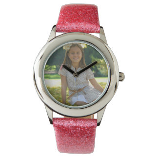 Create Your Own Custom Pink Glitter Watch