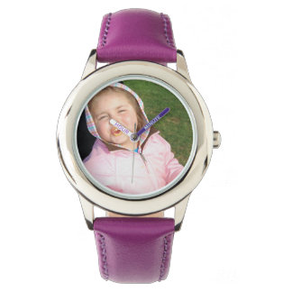 Create Your Own Custom Purple Leather Strap Watch
