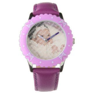 Create Your Own Custom Purple Ribbons Bezel Wristwatch