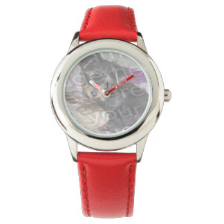 Create Your Own Custom Red Hearts And Bezel Strap Wrist Watch