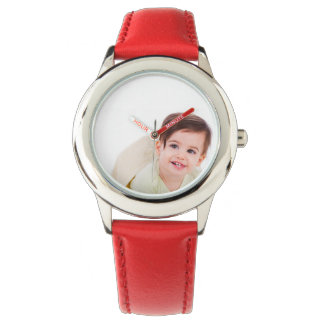 Create Your Own Custom Red Leather Strap Watch