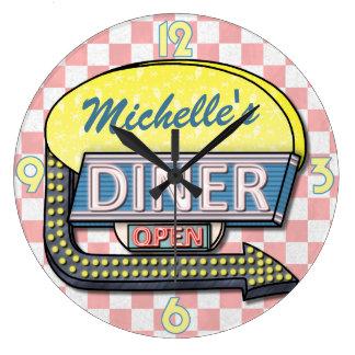Create Your Own Custom Retro 50's Diner Sign 2 Wallclock