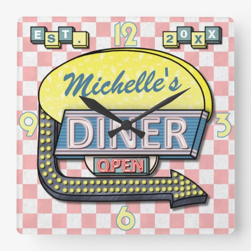 Create Your Own Custom Retro 50 39 S Diner Sign 3 Zazzle