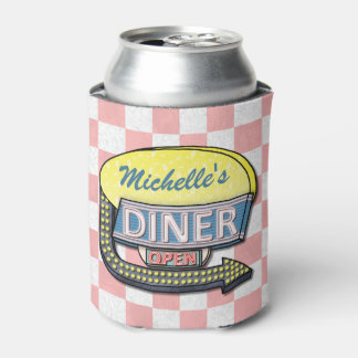 Create Your Own Custom Retro 50's Diner Sign Can Cooler