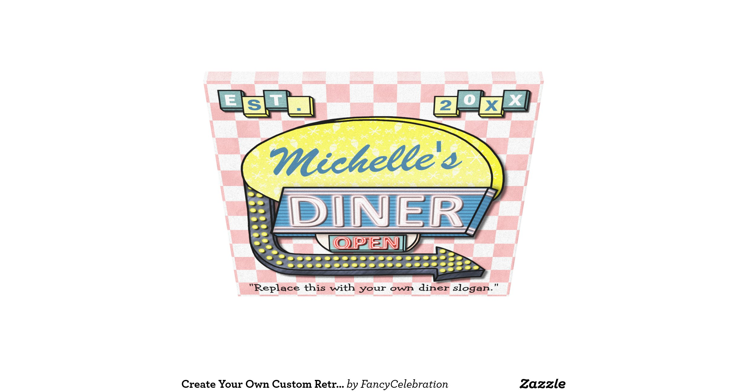 Create Your Own Custom Retro 50 39 S Diner Sign Gallery
