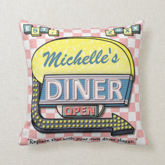 Create Your Own Custom Retro 50's Diner Sign Cushion