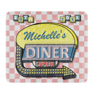 Create Your Own Custom Retro 50's Diner Sign Cutting Boards