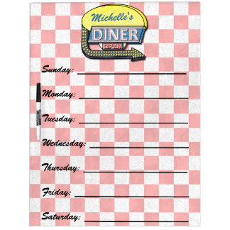 Create Your Own Custom Retro 50's Diner Sign Dry Erase Board