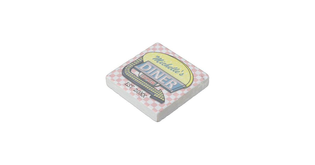 Create Your Own Custom Retro 50 39 S Diner Sign Stone Magnet