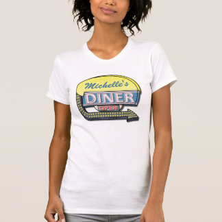 Create Your Own Custom Retro 50's Diner Sign T Shirts