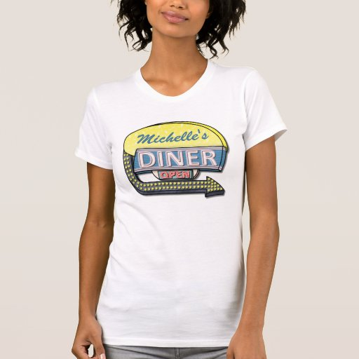 Create Your Own Custom Retro 50's Diner Sign Shirt