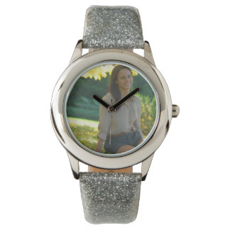 Create Your Own Custom Silver Glitter Watch