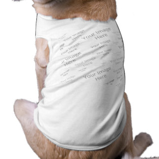 Create Your Own Custom White Dog Ribbed Tank Top Sleeveless Dog Shirt
