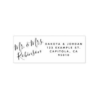 Create Your Own Custom Wood Wedding Return Address Rubber Stamp