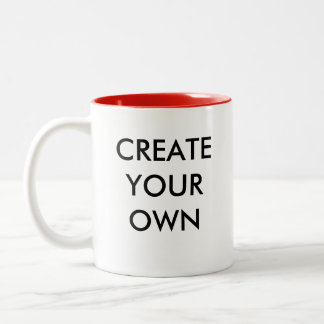 Create Your Own Customisable Two-Tone Mug RED