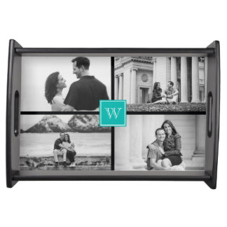 Create Your Own Customizable Wedding Photo Collage Service Trays