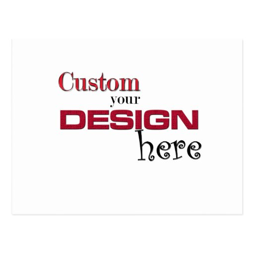 create your own design add image customise here post card