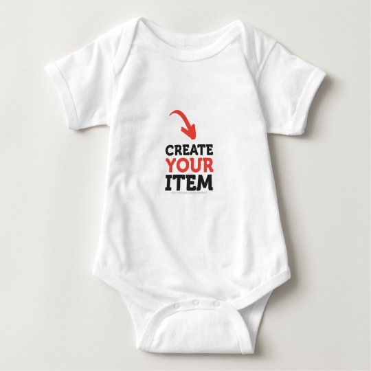 CREATE-YOUR-OWN DIY Custom upload your design Baby Bodysuit