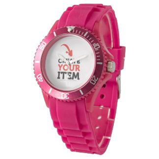 Create-your-Own DIY Pink Sport Woman Watch