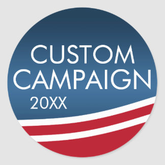 Create Your Own Election Design Classic Round Sticker