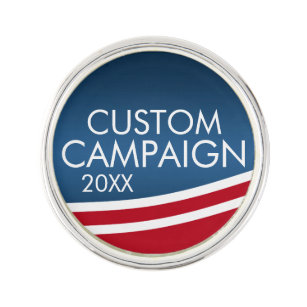 Create Your Own Election Design Lapel Pin
