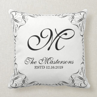 Create Your Own Elegant Graceful Wedding Monogram Cushion