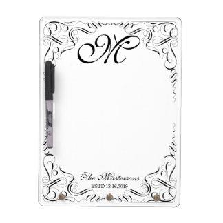 Create Your Own Elegant Graceful Wedding Monogram Dry-Erase Boards