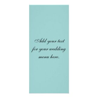 Create Your Own Elegant Wedding Menu Cards Rack Card Template