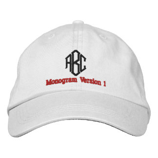 Create Your Own Embroidered Custom Monogram V01 Embroidered Baseball Cap