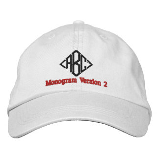 Create Your Own Embroidered Custom Monogram V02 Embroidered Hat