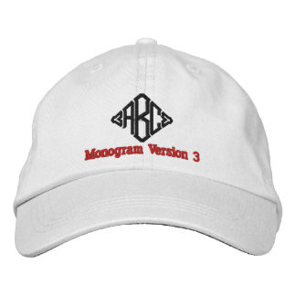 Create Your Own Embroidered Custom Monogram V03 Embroidered Hat